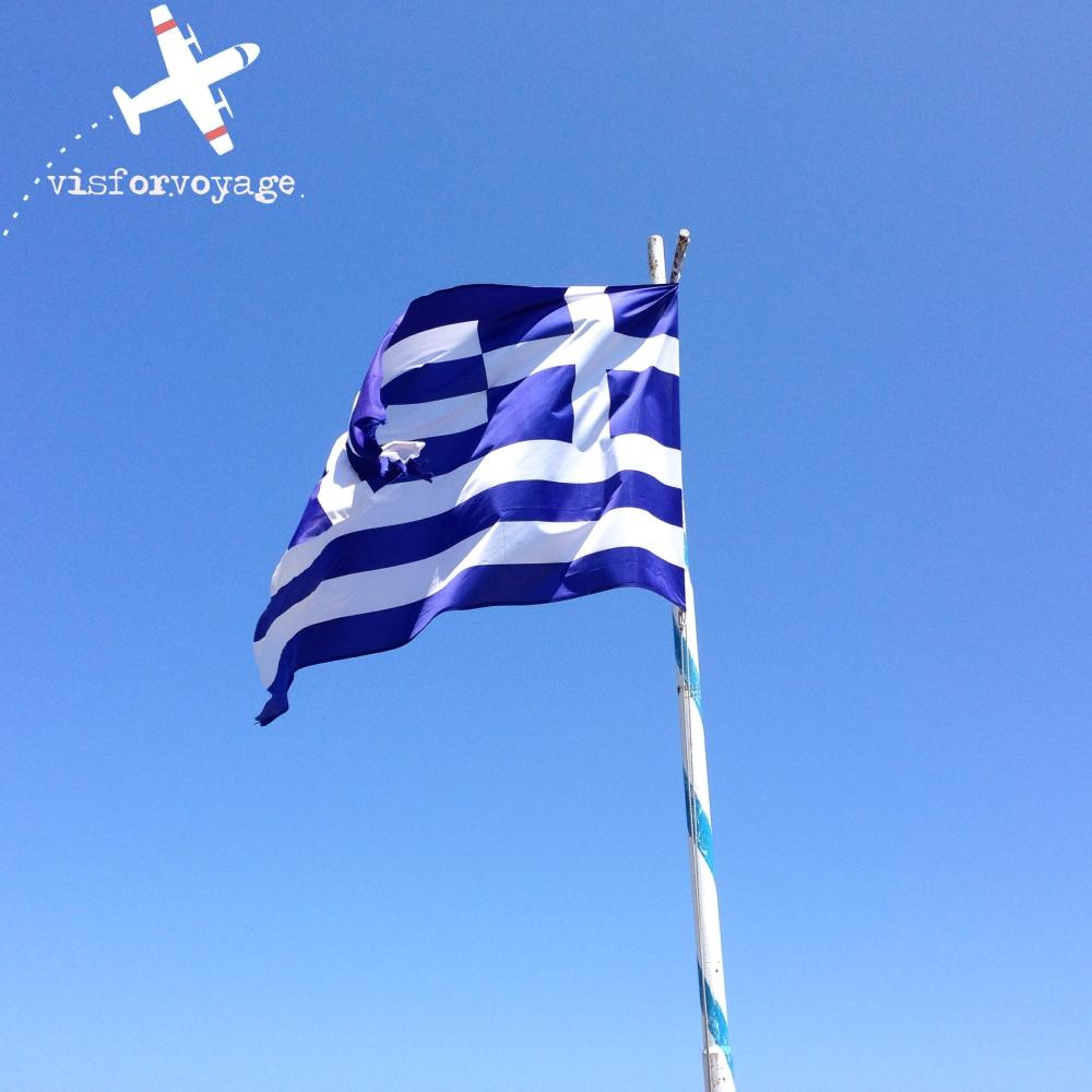 SKIATHOS bandiera con logo